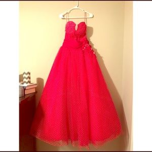 Red Polka Dot Ball Gown